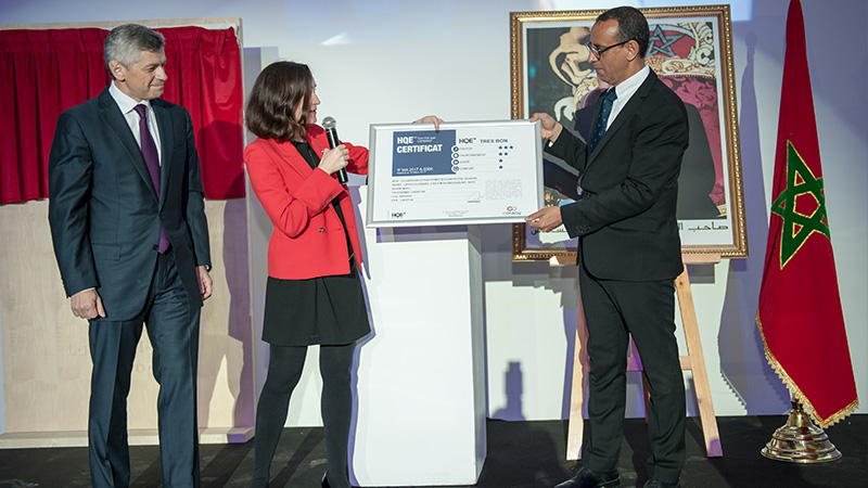 LHM - Inauguration SCL - remise certificat HQE